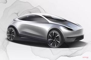 【中国スタイル】テスラ 小型EVのイメージ図を公表 在中国デザイン拠点の設立も