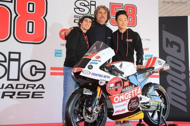 MotoGP:日本人Moto3ライダー鈴木竜生が所属するSIC58スクアドラ・コルセがチーム発表会を開催