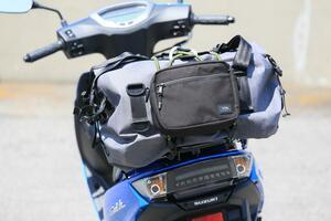 収納&積載能力が高すぎっ! 原付二種スクーターなのにバイクキャンプもできるかも?【穴が空くまでスズキを愛でる/スウィッシュ 試乗インプレ(3)】