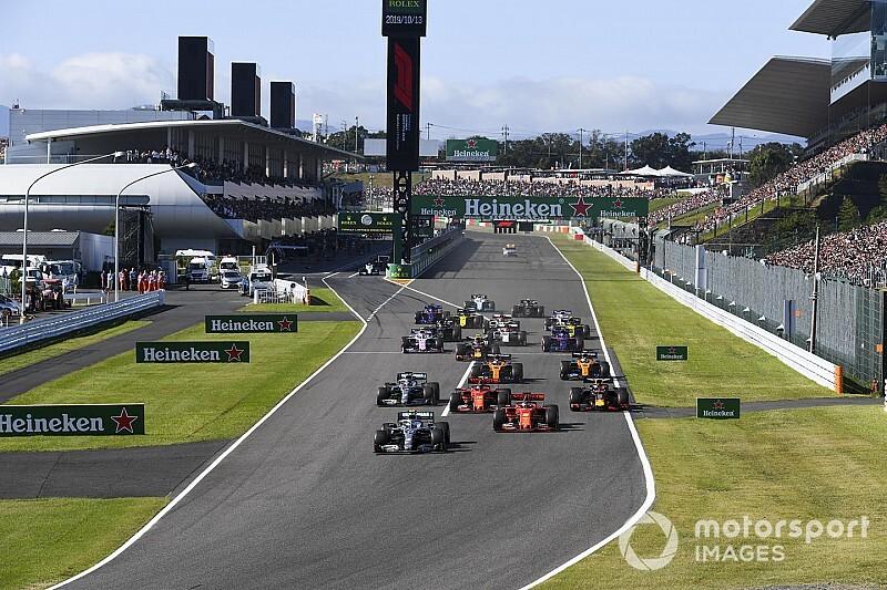 10月11日開催のF1日本GP、決勝スタートは13時10分に。昨年より1時間早く