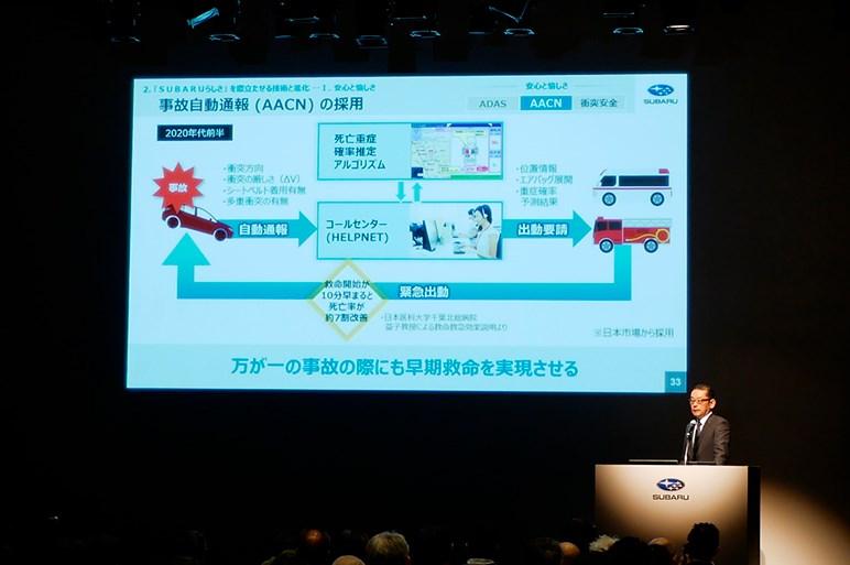 スバルが2030年に死亡交通事故ゼロを目指すための新技術「AACN」とは何か?