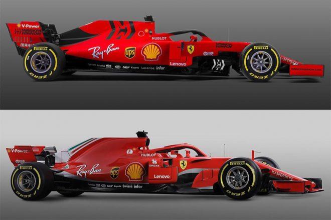 【新旧F1マシンスペック比較】フェラーリ編:節目の90年目を戦うSF90。空力開発を突き詰めたマシンに