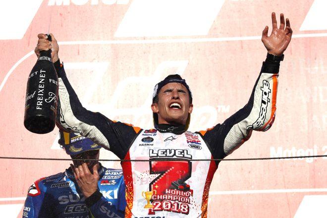 マルケス「今はドヴィツィオーゾが転倒したことが残念」/MotoGP日本GP決勝会見