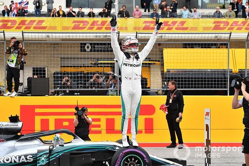 F1アメリカGP予選:トップ3が僅か0.07秒差の大接戦! ハミルトンが81回目PP獲得。トロロッソ・ホンダもQ1で7位