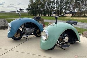 フォルクスワーゲン・ビートルのフェンダーを使いミニバイク「Volkspod(フォルクスポッド)」を製作したビルダー
