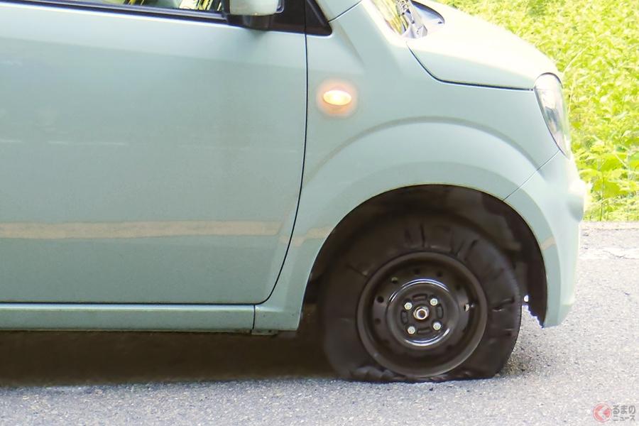 台風21号によるクルマのトラブル最多はタイヤのパンク! 道路に散乱した瓦礫が原因か