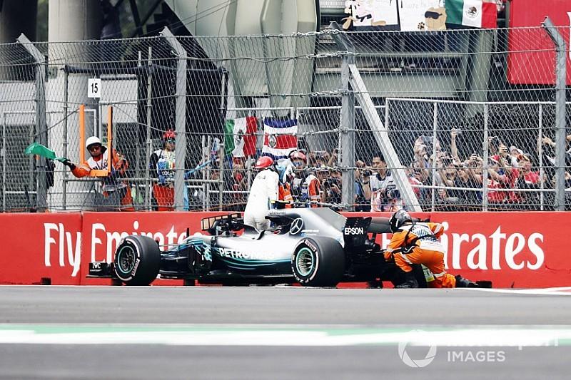 メルセデス、FP3でトラブルが発生したボッタス車のPU交換。グリッド降格は免れる|F1メキシコGP