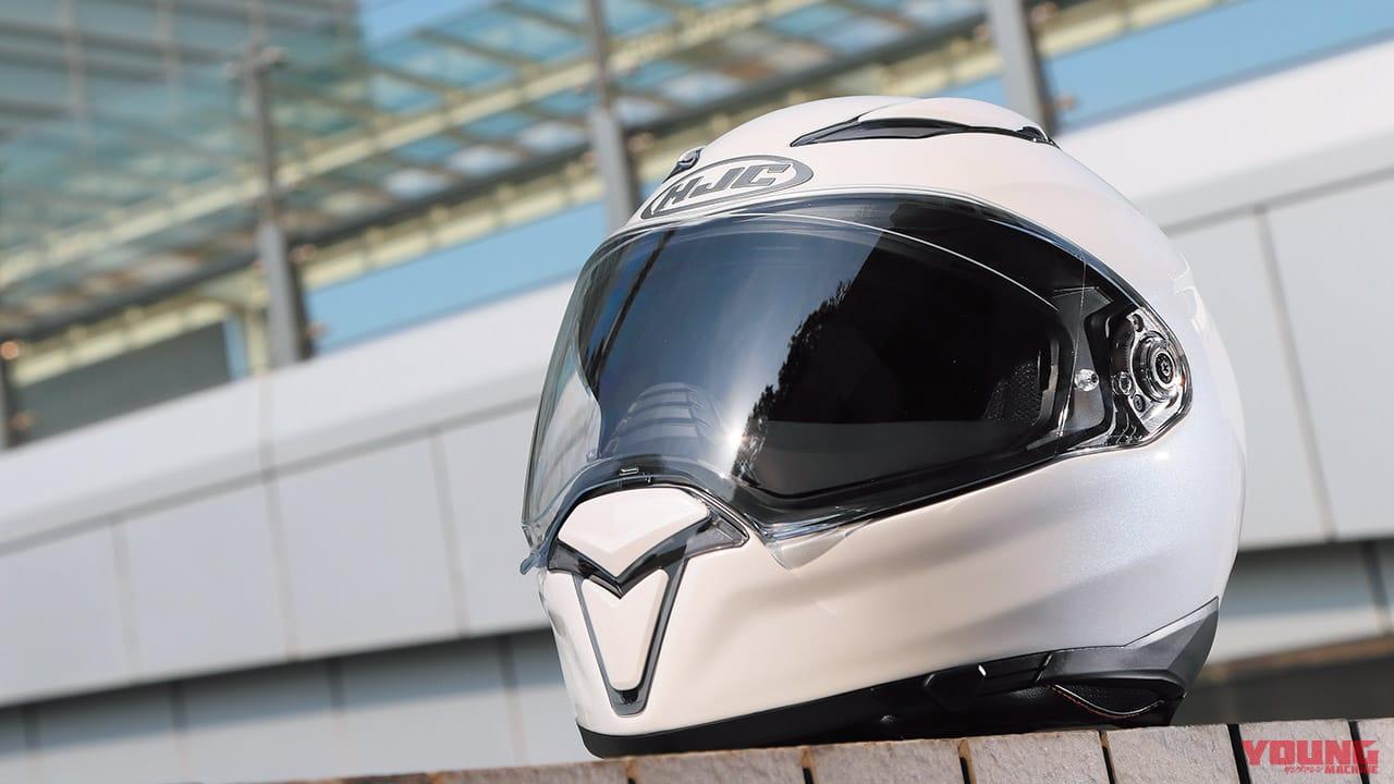 '20 最新ヘルメット〈HJC〉F70【大型ブレスガード&開閉式サンバイザー】