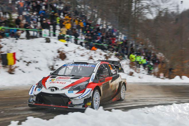 WRCモンテカルロ:競技3日目はトヨタの2台が一進一退の攻防。エバンスが4.9秒リードで最終日へ