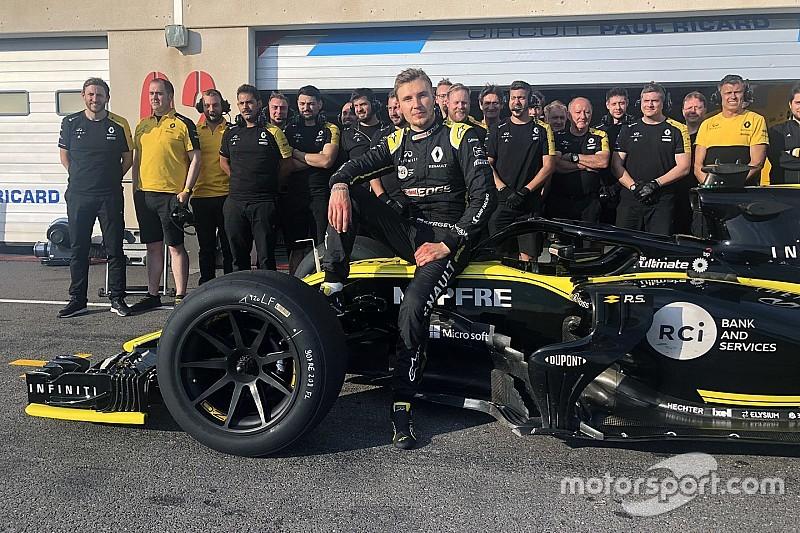ピレリ、2021年用18インチタイヤの初テストを完了。ルノー/シロトキンが2日で213周を走破