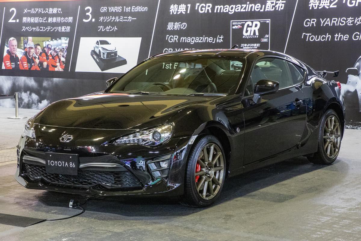 """""""ハチロク""""に存在した限定車をトヨタ86で再現した「ブラックリミテッド」とは【大阪オートメッセ2020】"""