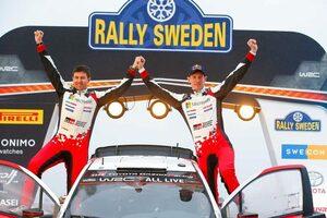 WRC第2戦スウェーデン:トヨタが2020年初優勝。エバンスが逃げ切りキャリア2勝目