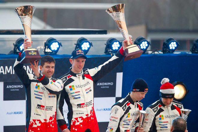 トヨタに2020年初優勝もたらしたエバンス「加入2戦目で勝つことができ本当にうれしい」/2020WRC第2戦スウェーデン デイ3後コメント
