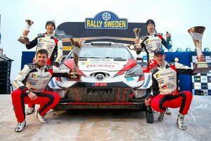 WRC:トヨタがスウェーデン2連覇。「我々はドリームチーム。過去にないほどチームスピリットは高い」