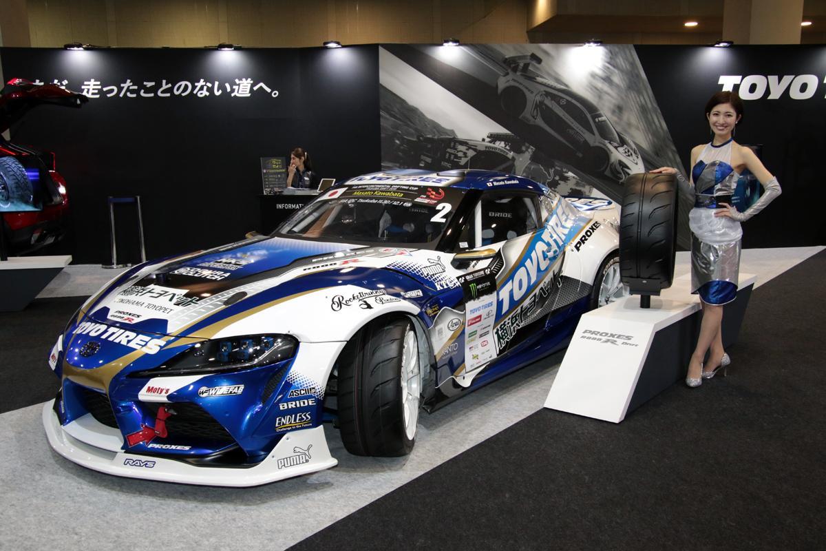 TOYO TIRESが1000馬力のスープラを支える「プロクセスR888ドリフト」を公開!【大阪オートメッセ2020】