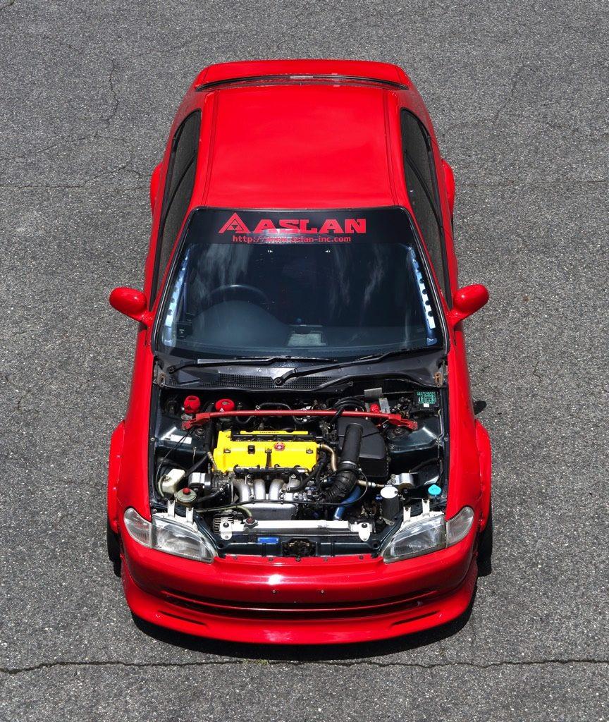「EGシビックフェリオにK20Aエンジンを換装!」レーシングカーなみのボディメイクも注目だ!