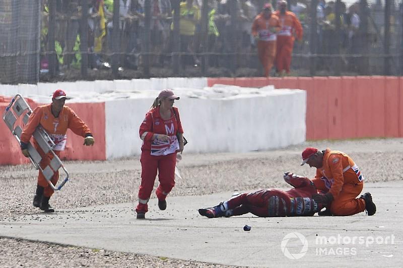 【MotoGP】イギリスGPでクラッシュのドヴィツィオーゾ、一時的な記憶喪失で検査のため病院へ