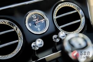 なぜ高級車にはアナログ時計が装着される? ラグジュアリーカーと高級時計ブランドとの関係とは
