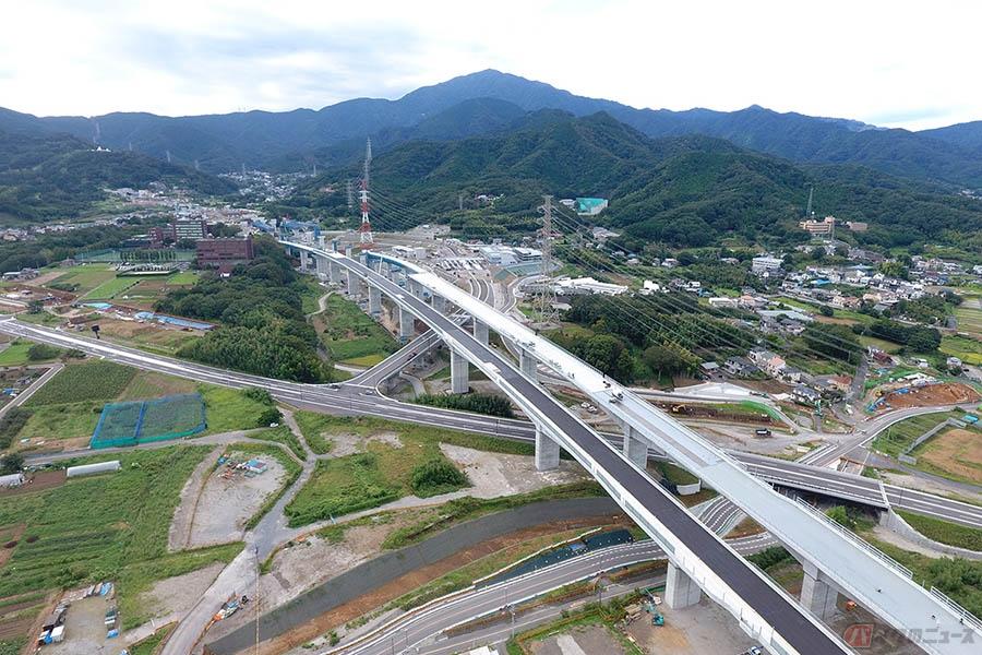 新東名「伊勢原JCT~伊勢原大山IC間」開通迫る 全線開通まで残り約46km