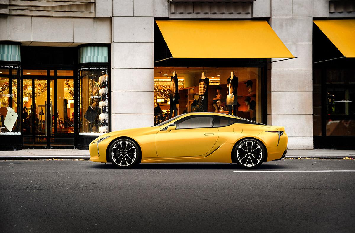 金環日食をイメージしたレクサス「LC」の特別仕様車「ラスターイエロー」期間限定販売