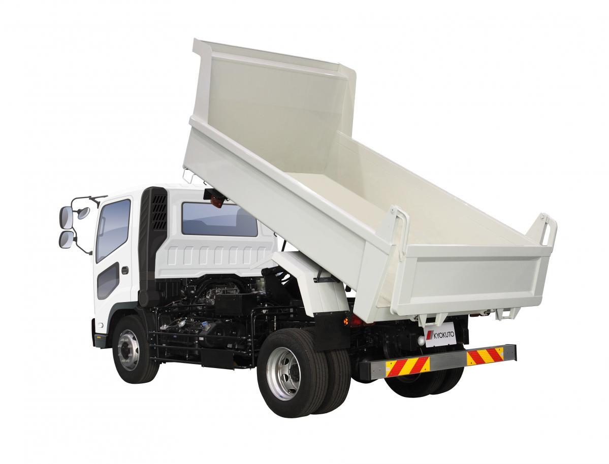 極東開発工業:7トンリヤダンプトラックを改良、耐摩耗鋼板仕様を追加し発売