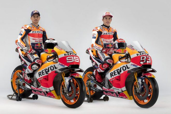 MotoGP:レプソル・ホンダ、2019年型RC213Vのスタジオショットを公開