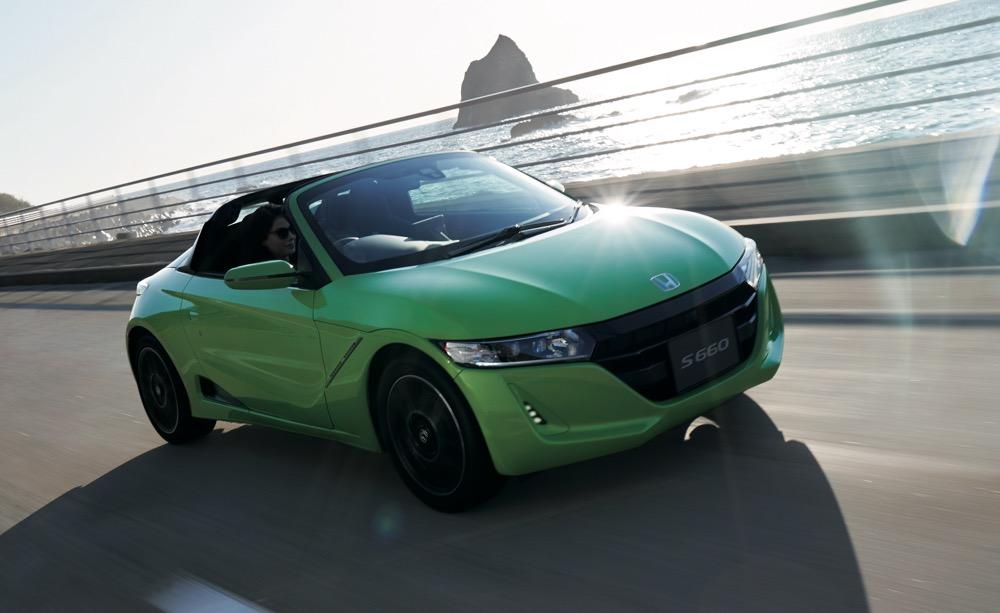 ホンダ、「S660」をマイナーチェンジ。明るいグリーンカラーを国内初採用。同時にモデューロXも変更