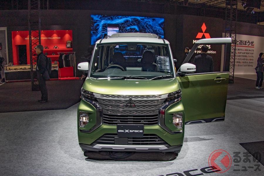 アクティブさ満載のカスタム仕様の名前は「eKクロス スペース」! 三菱の新スーパーハイト軽ワゴンが初公開