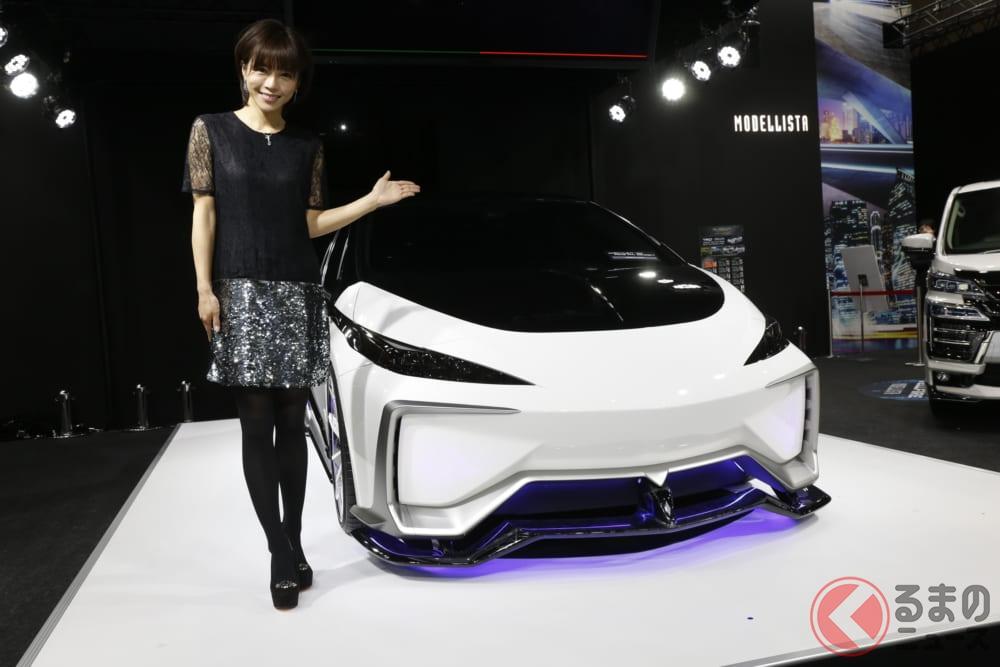釈由美子もビックリ!未来感ありすぎ「プリウスPHVコンセプト」 モデリスタとTRDが初コラボ