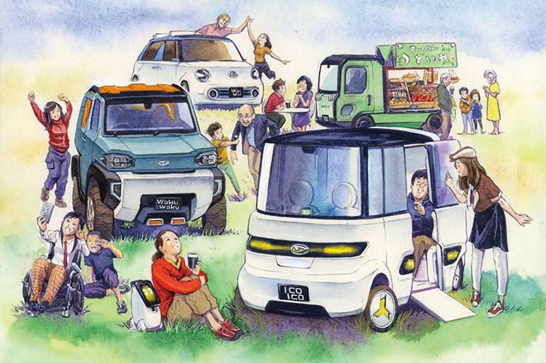 ジムニー対抗にデカキャンバスも? ダイハツは東京モーターショーに純コンセプト4台を出展