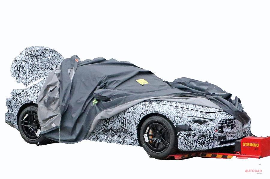 【まもなく生産開始か】メルセデス・ベンツSL 2020年モデル テスト車両からプロポーションのヒント