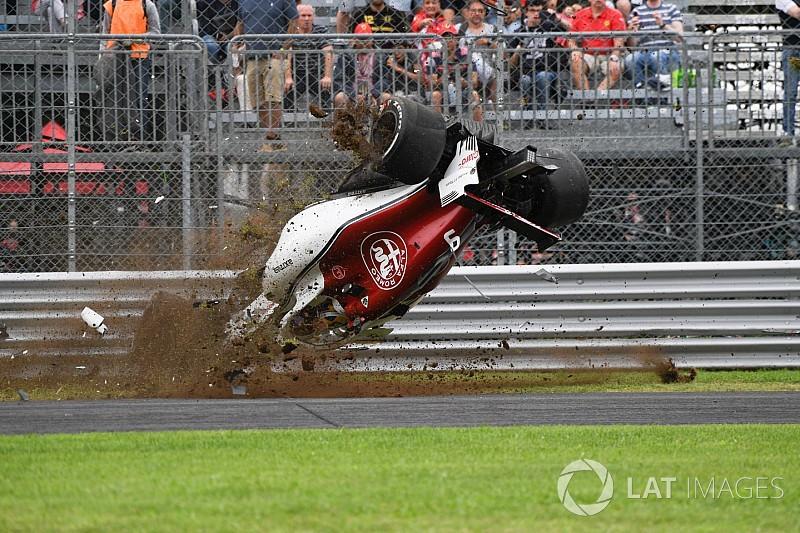 FP2で大クラッシュのエリクソン、シャシーを交換しFP3以降も出走へ。FIAのメディカルチェックも通過/F1イタリアGP