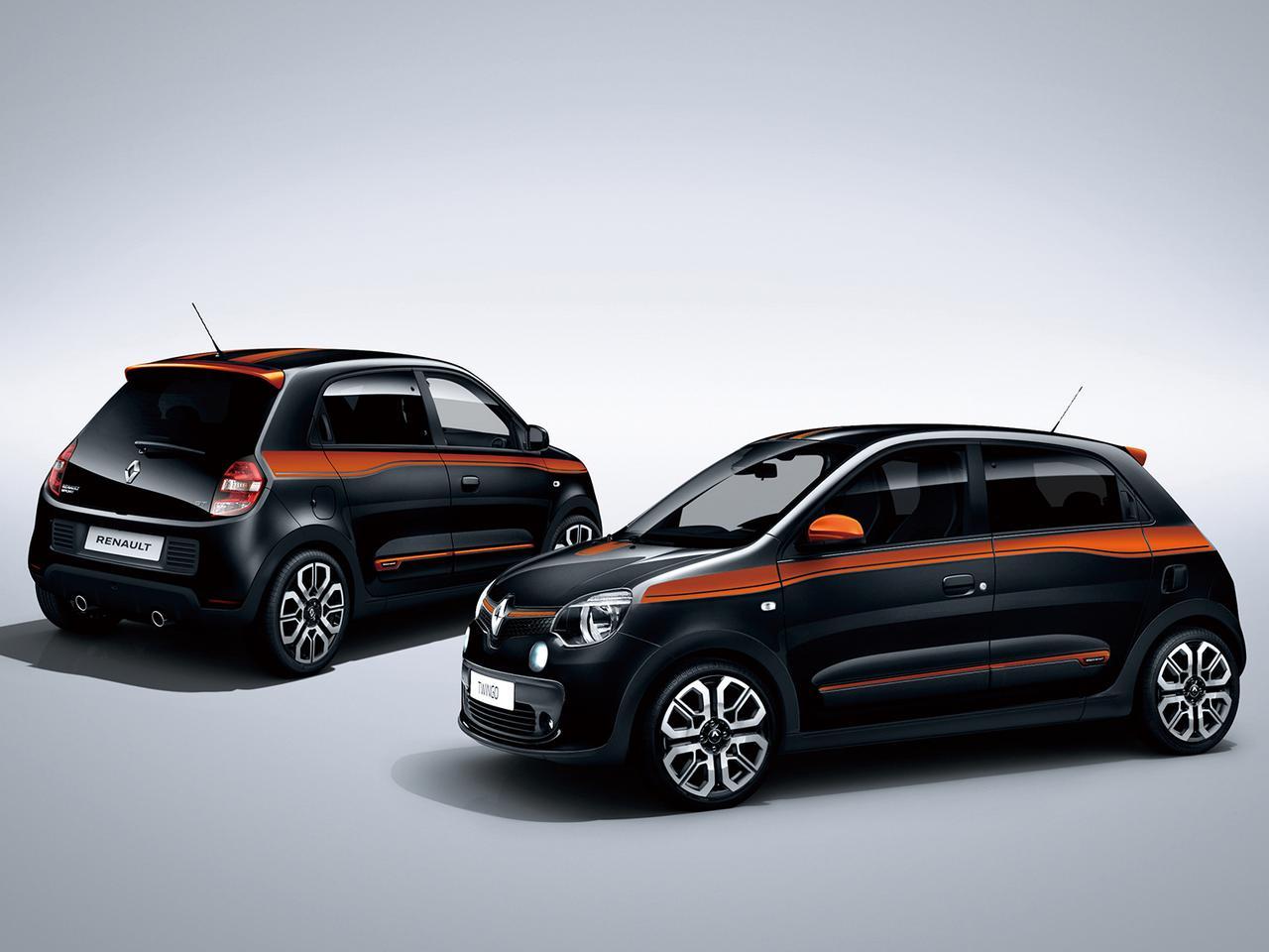 ブラックボディにオレンジデカールの限定車「ルノートゥインゴGTノワール」発売