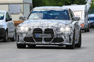 【M3も巨大グリル!】次期BMW M3 3.0L直6で480ps 9月に欧州発表へ