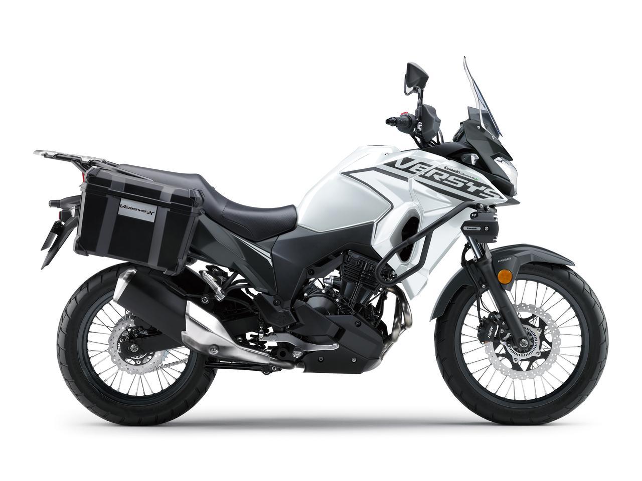 カワサキが「VERSYS-X 250 TOURER」の2020年モデルを販売開始! 初めての白ボディ、さらに都市迷彩風のグレーも新たなグラフィックで復活