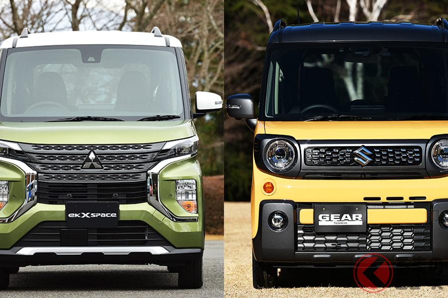 ノッポな軽SUVはどっちが好み? 三菱「eKクロススペース」とスズキ「スペーシアギア」を徹底比較!