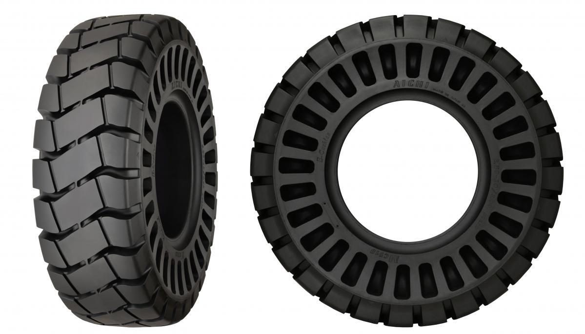 横浜ゴム:愛知タイヤ工業製フォークリフトタイヤ「AICHI E-Cushion」の販売開始
