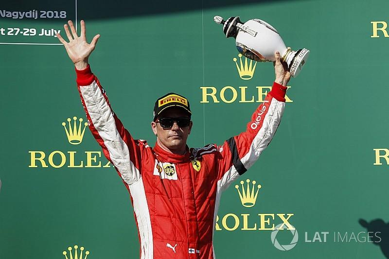 ライコネン、3位表彰台獲得も「あまり良いレースじゃなかった」と不満|F1ハンガリーGP