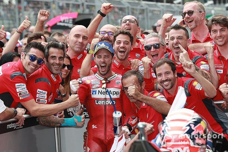 【MotoGP】今季2勝目を挙げたドゥカティのドヴィツィオーゾ、逆転タイトルに向け「この勝利が活力になれば」