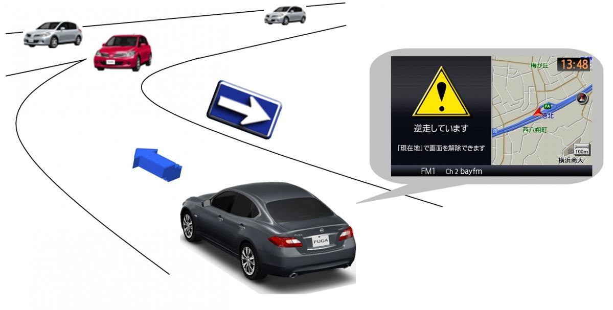 日産自動車、逆走報知ナビゲーション技術のライセンスをパイオニアに供与