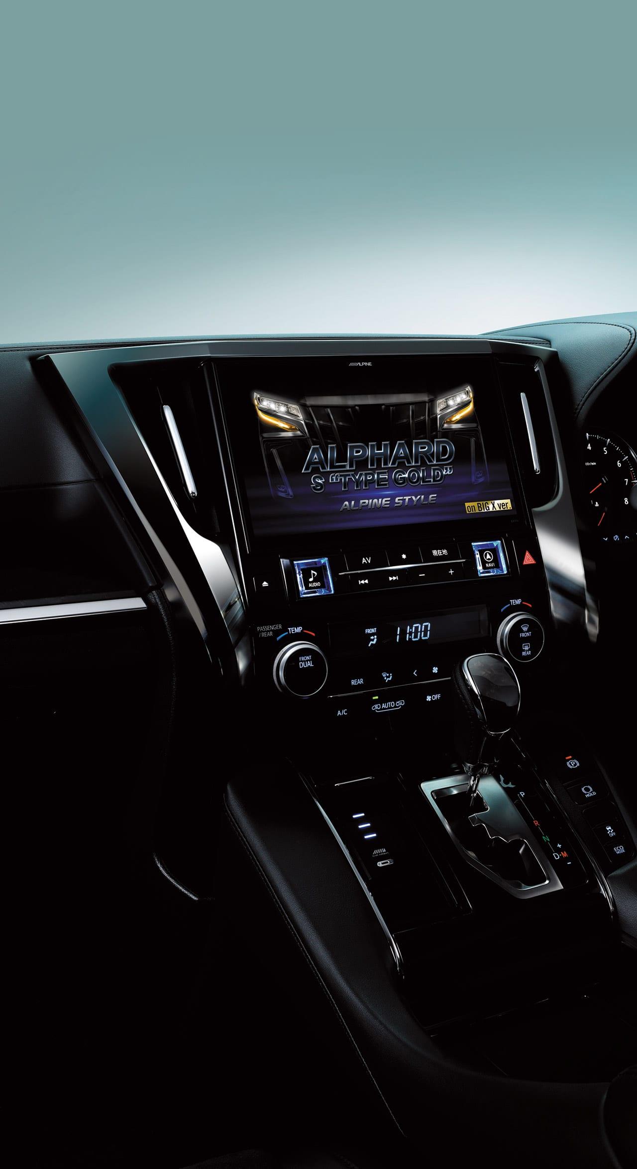 新車からBIG X!〈トヨタ・アルファード&ヴェルファイア〉アルパインスタイルの 新車コンプリートカーなら純正ディスプレイオーディオをBIG Xに変更可能!!|ALPINE STYLE