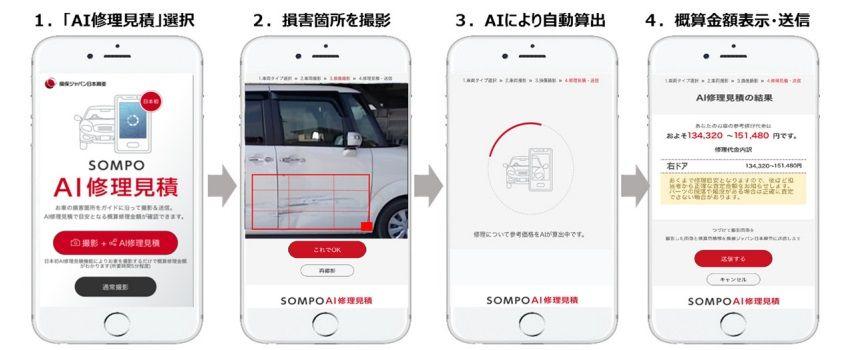 損保ジャパン日本興亜 画像からAIが事故車両の修理費用を自動見積りするサービスを提供