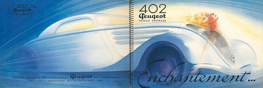 プジョー402/道具的意味合いの強いクルマに感性的なカタログという組み合わせ【自動車型録美術館】第26回