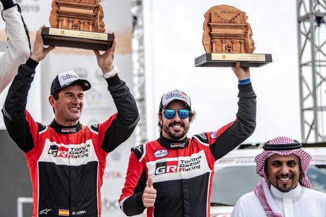 フェルナンド・アロンソ、ラリーレイド参戦3戦目で初表彰台。2020年ダカールへ順調な仕上がり