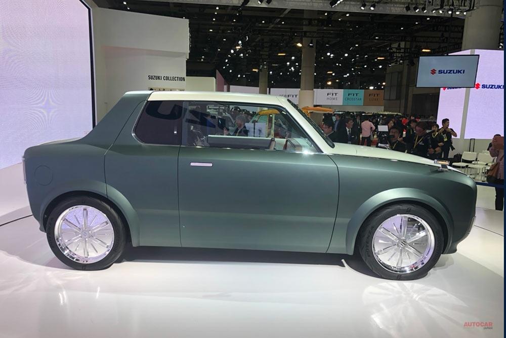 スズキ・ワクスポ、世界初公開 全長3700mm 小型PHEVクーペがワゴンに変身