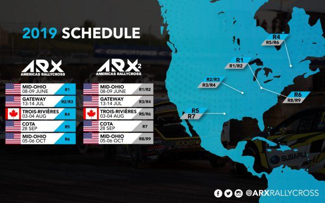初代王者がスバルへ移籍する北米主体『ARXアメリカズ・ラリークロス』、2019年は全5大会6戦