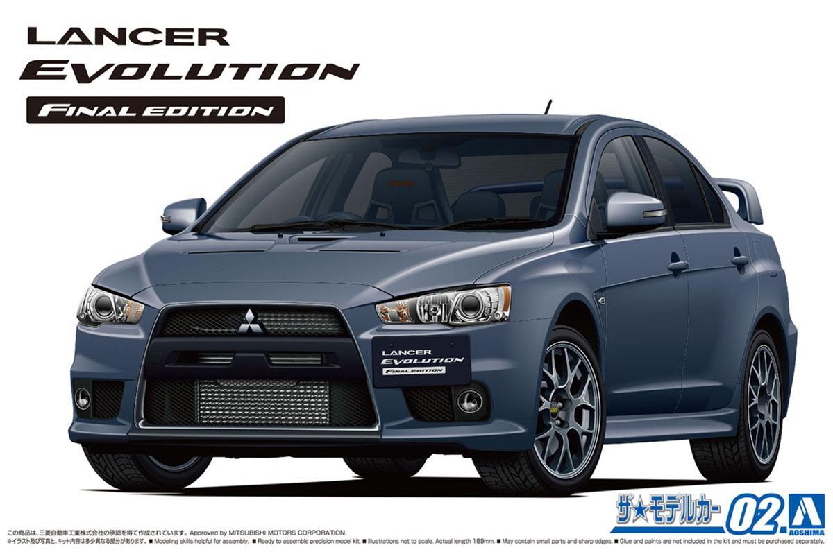 新規パーツも付属! 青島文化教材社「ザ☆モデルカー」シリーズ最新作・三菱ランサーエボリューションXが登場