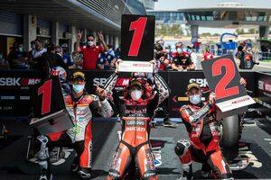 SBK第2戦スペイン:ドゥカティのレディングが2勝。レイはレース2で表彰台を逃す