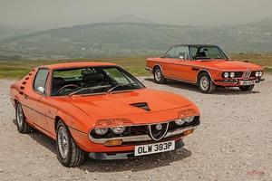 1970年代の名車 オレンジ色の個性派 BMW CSi アルファ・ロメオ・モントリオール
