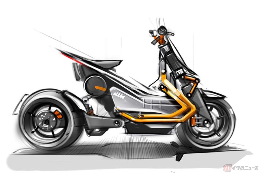 KTMが電動二輪車のプラットフォームを開発中 デザイン会社がコンセプトモデルのスケッチを公開